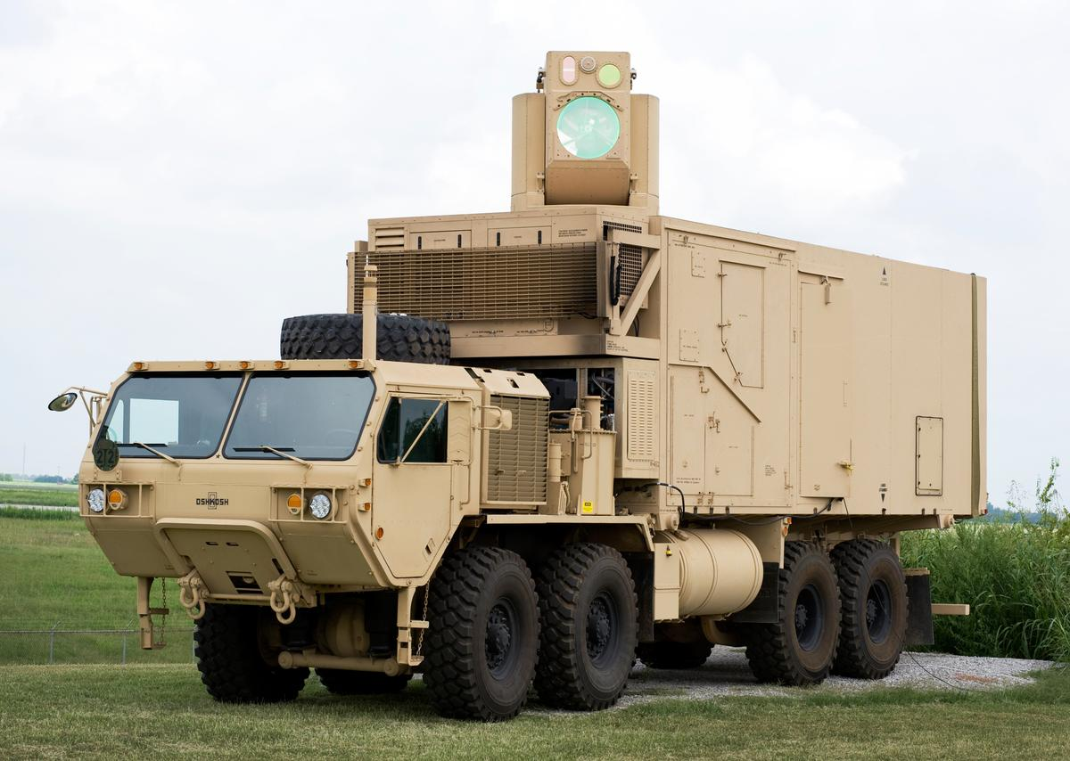 The HEL MD that took out mortars and UAVs in flight using its vehicle-mounted 10-kW laser (Photo: Boeing)