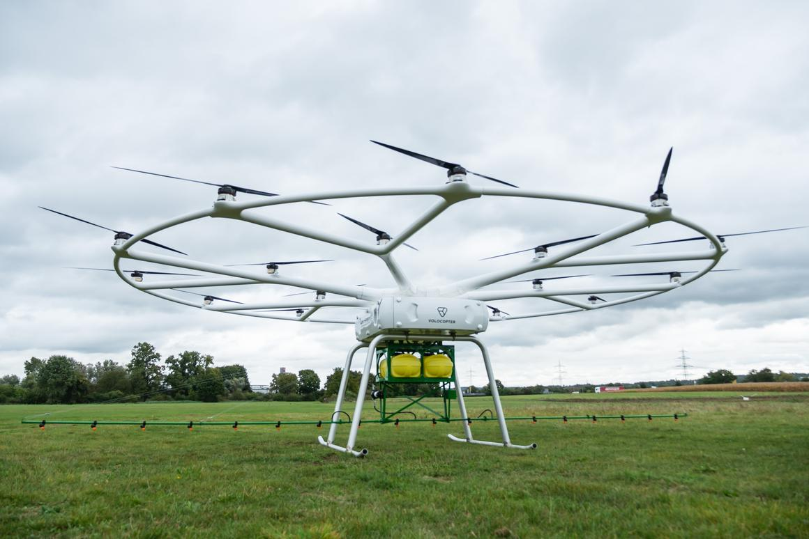 Volocopter's crop-spraying drone is said to be ready for its first flight