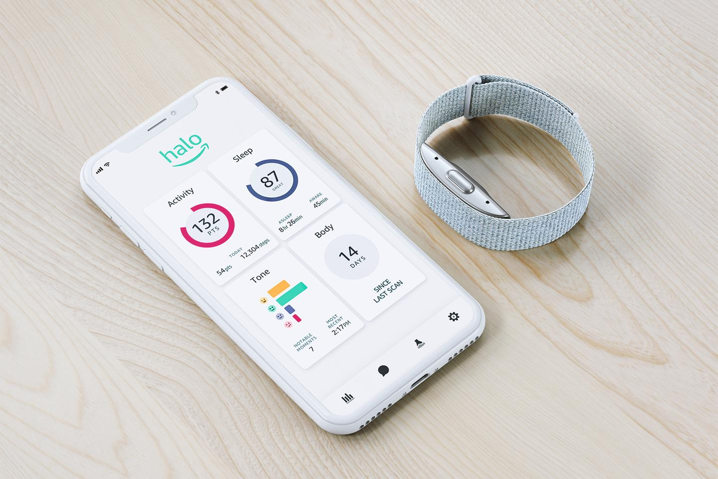 The Halo band comes with an analysis app for Android or iOS