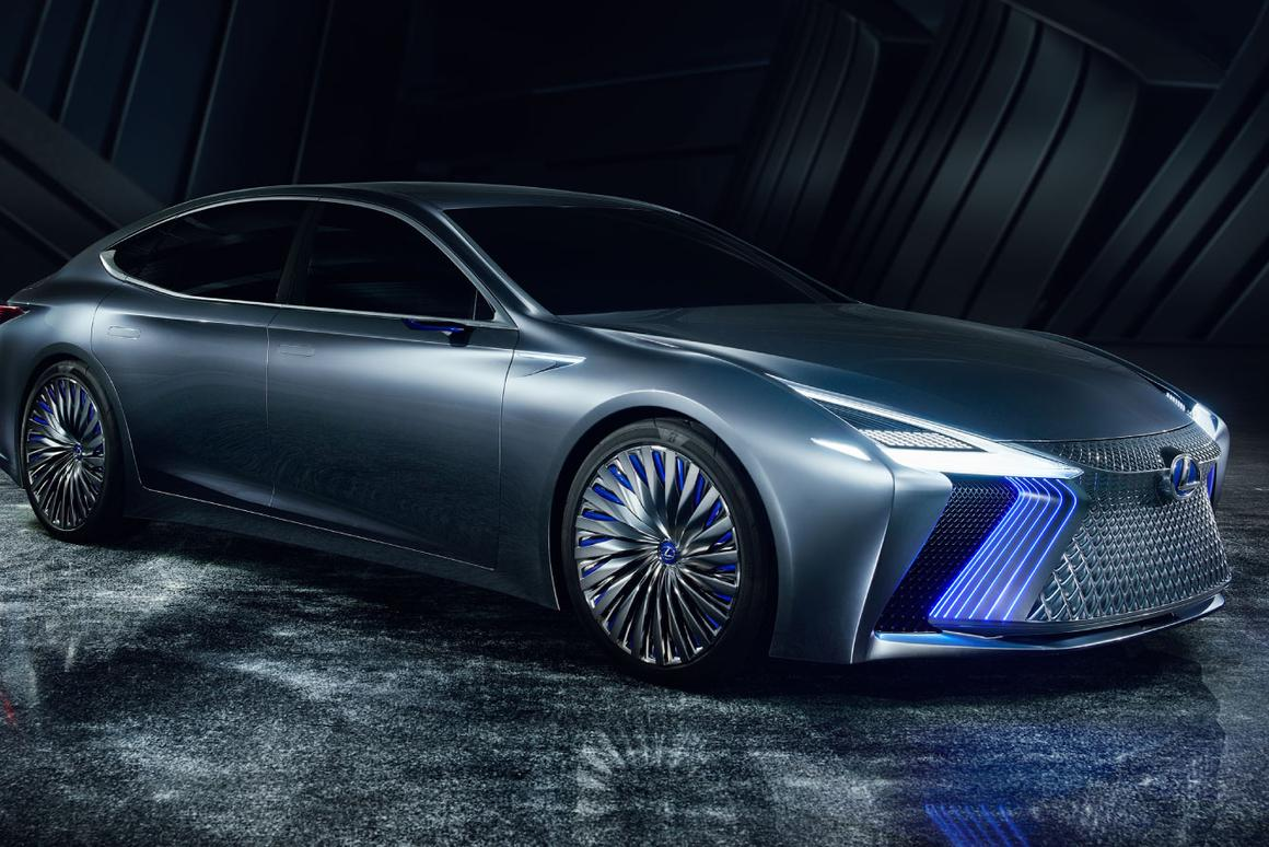 One look at the LS+ Concept and you're eyes will probably head straight for the monster grille up front