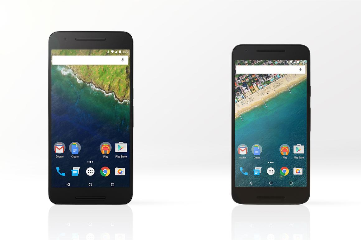 Gizmag compares the features and specs of Google's new Huawei-made Nexus 6P (left) and the LG-made Nexus 5X