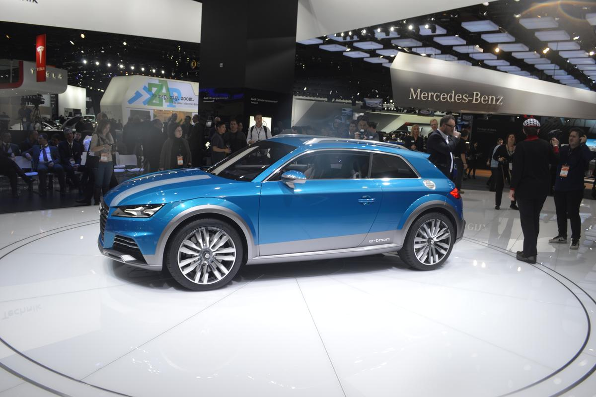 The Allroad shooting brake concept is the latest in Audi's e-tron line of concept cars to hit the circuit(Photo: CC Weiss/Gizmag)