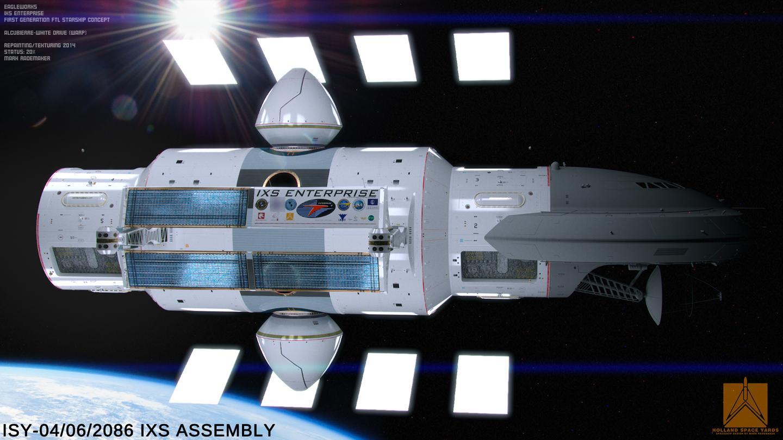 IXS Enterprise without the warp toruses (Image: Courtesy of Mark Rademaker)