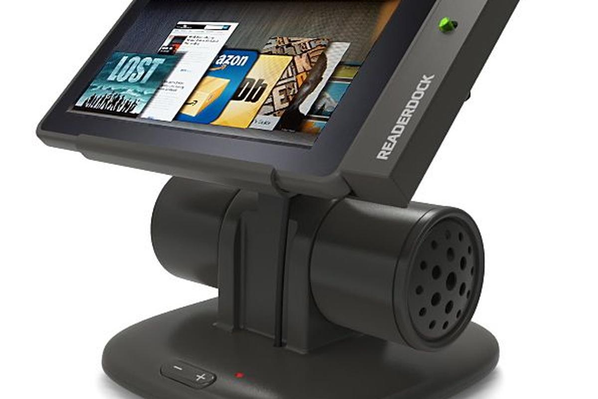 Readerdock has developed charging speaker docks for the Kindle Fire (shown) and the B&N Nook Color