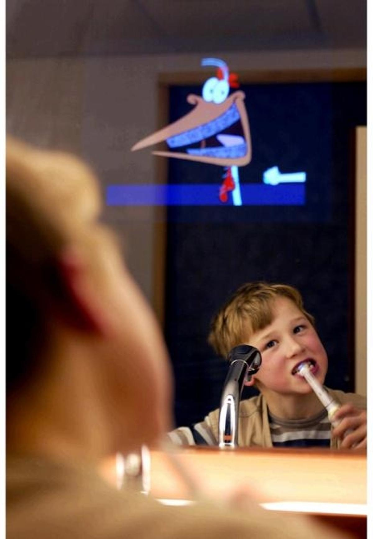 Now here's a great way to get the kids to brush their teeth and spend time in the bathroom.