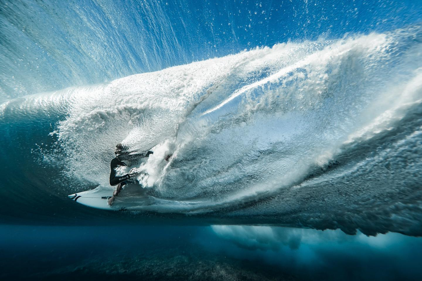 The Overall Winner was Ben Thouard from France, for a surreal underwater shot of surfer Ace Buchan. The winning photo was snapped in Teahupo'o, Tahiti, and also nabbed the top spot in the Energy category