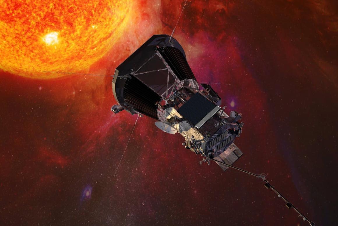 Arendering of NASA's Solar Parker Probe
