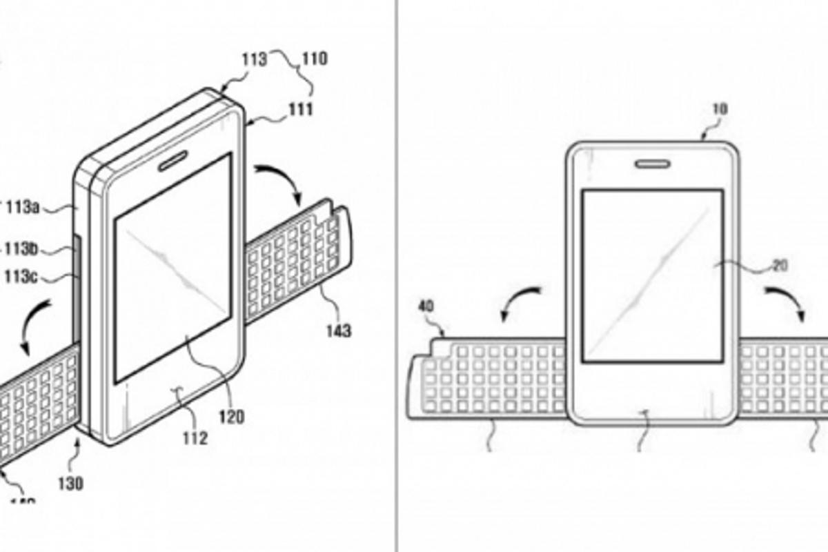 Samsung's folding wing keyboard patent application