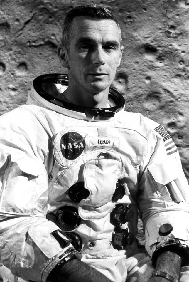 Lunar Module Pilot Eugene Cernan