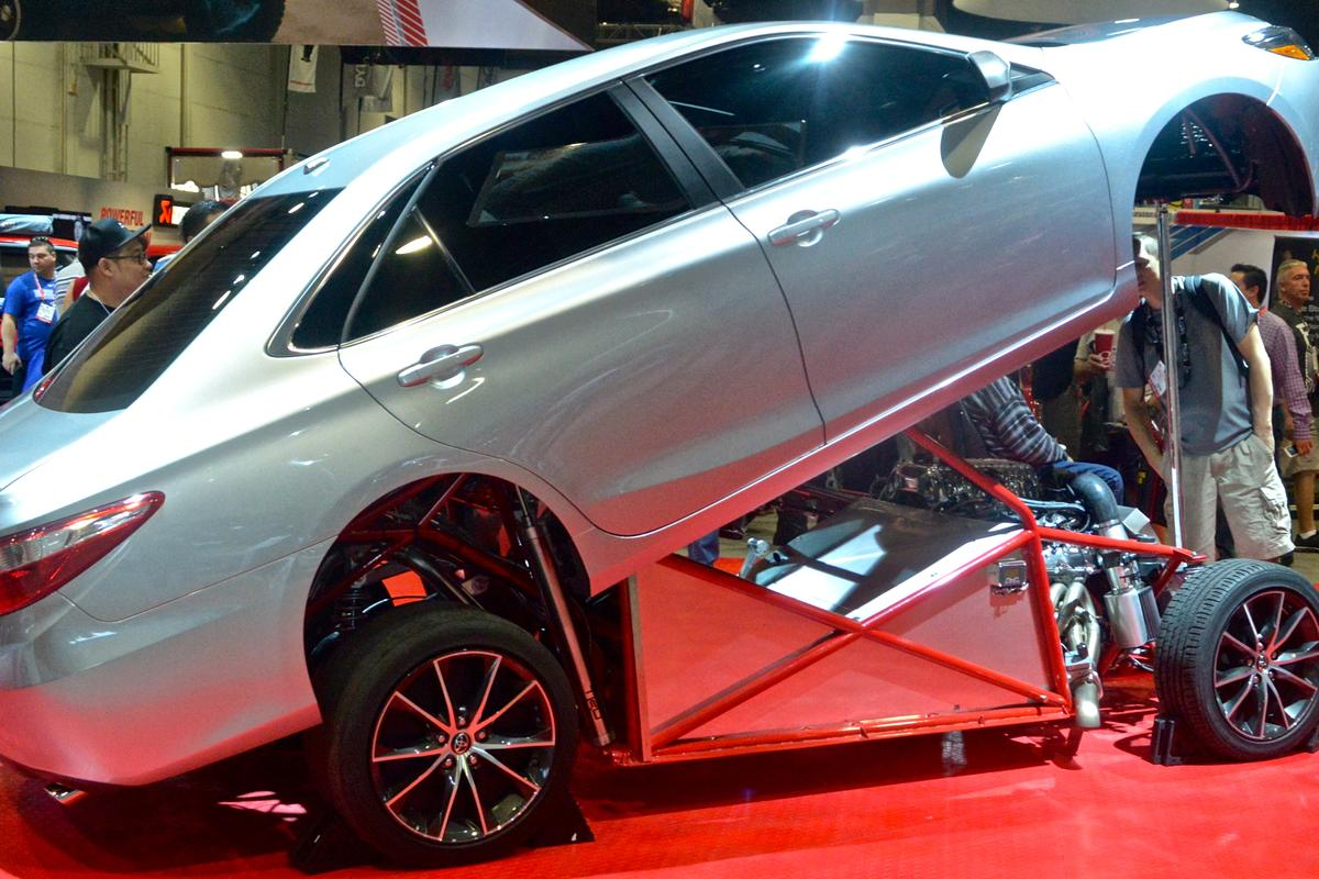 Toyota packs a supercharged Tundra powertrain and tube frame inside a Camry shell