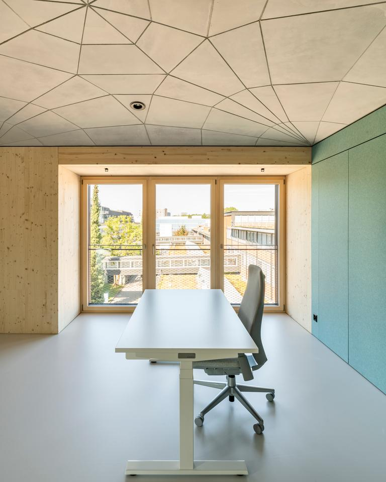 The HiLo's interior is spread over two floors and includes several office spaces