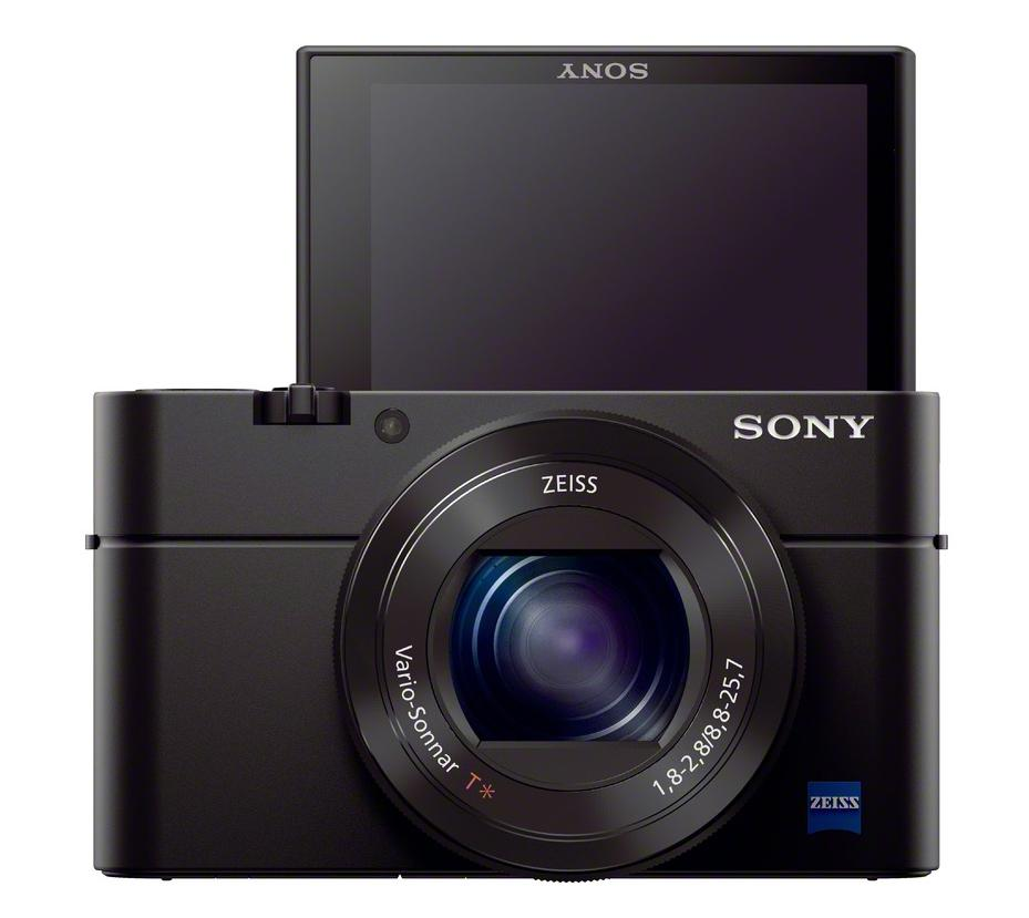 The rear LCD monitor on the Sony Cyber-shot RX100 III can be tilted 180-degrees