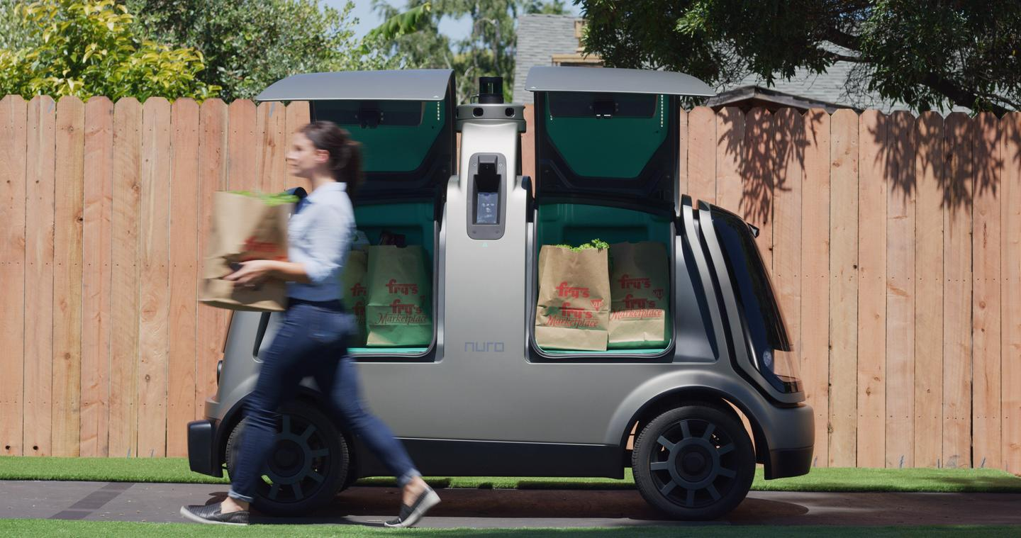 Online shoppers at Fry's will get their groceries delivered by a self-driving pod as part of a pilot operated by Kroger and Nuro