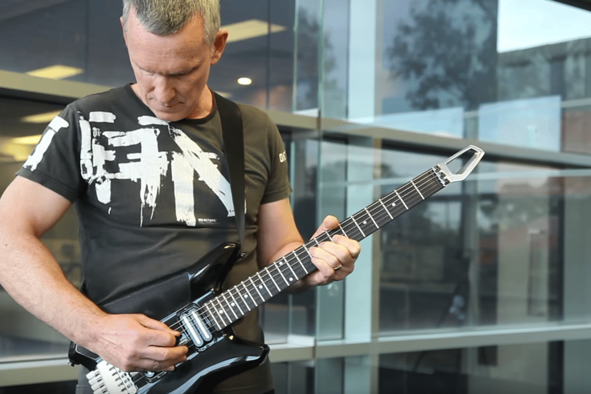 Designer Dave Auld plays the Fusion Guitar