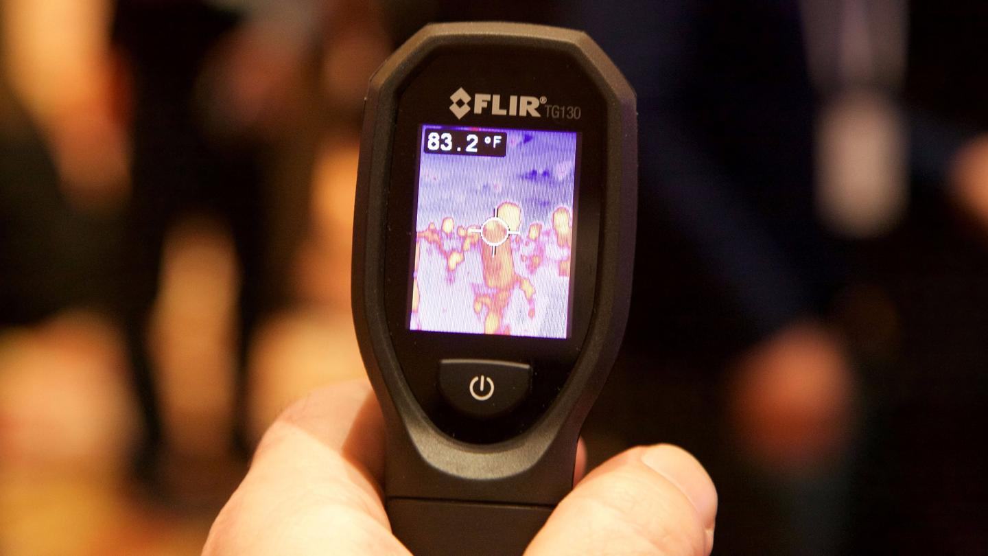 The TG130 spot thermal camera has a 1.8 in TFT display