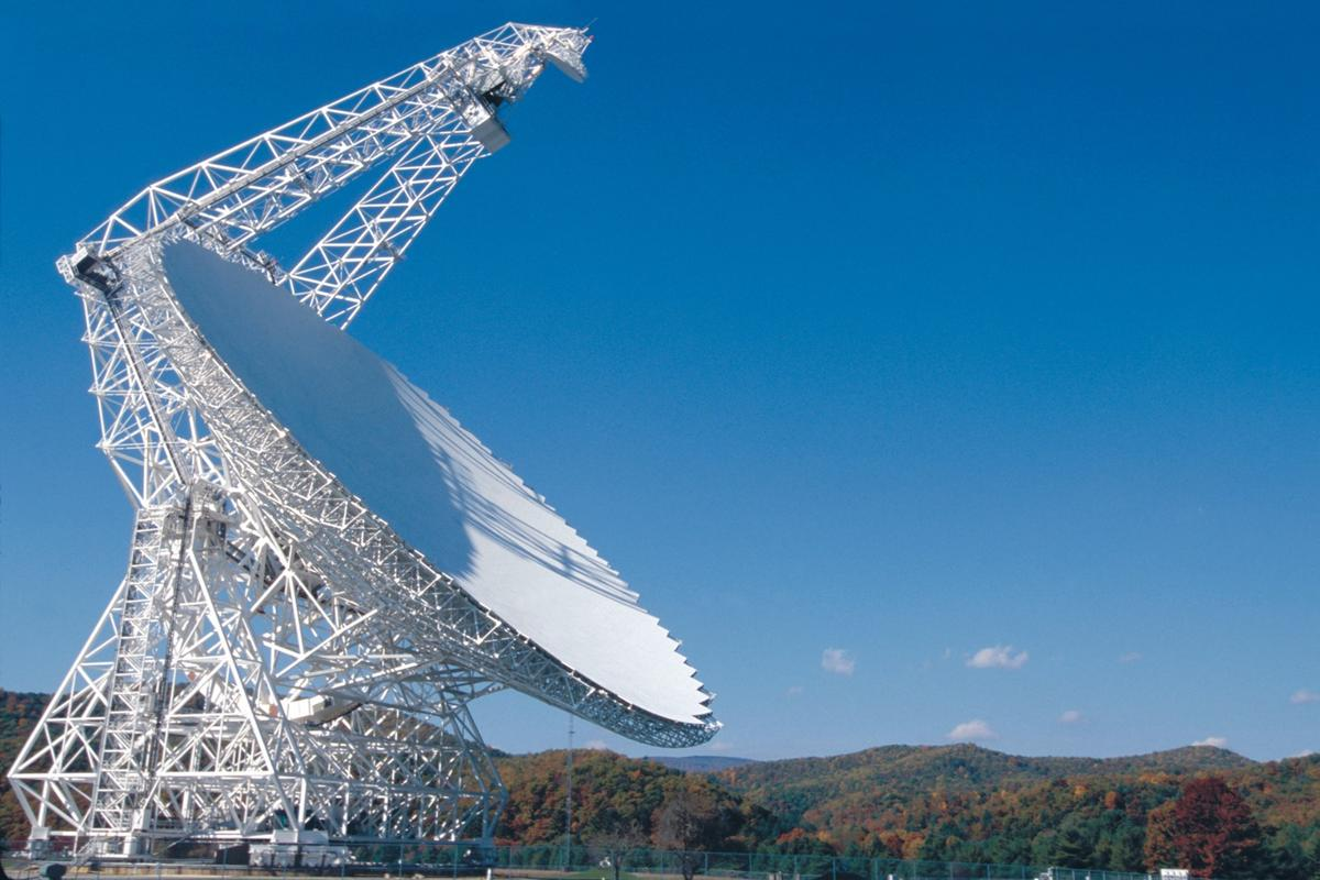 The Green Bank radio telescope is being used in the project
