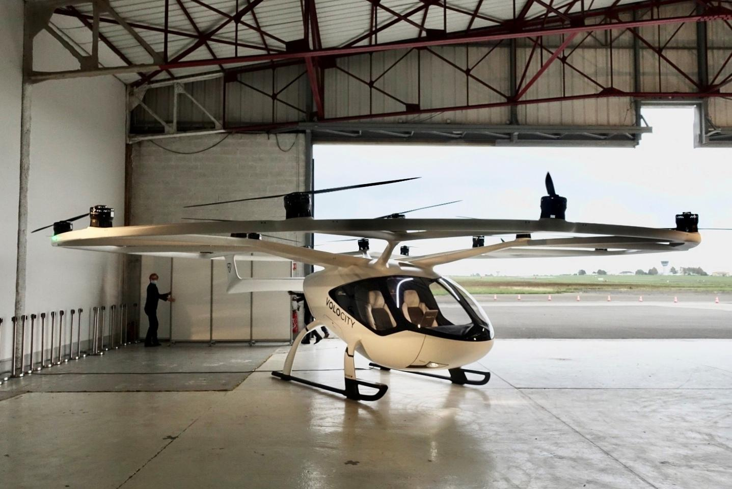 The VoloCity air taxi will undergo testing at the Pontoise airfield from mid-2021