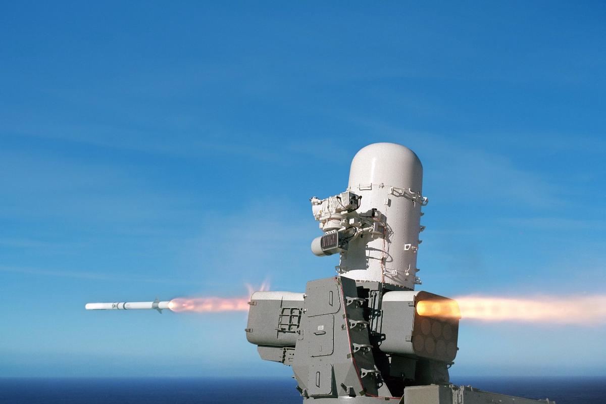 The Raytheon SeaRAM that is designed to intercept close-range threats