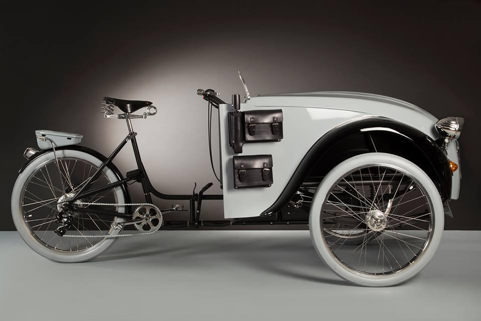 The 2CVParis consists of the back end of a 1929 Duomo grafted to the front end of a 1980 2CV