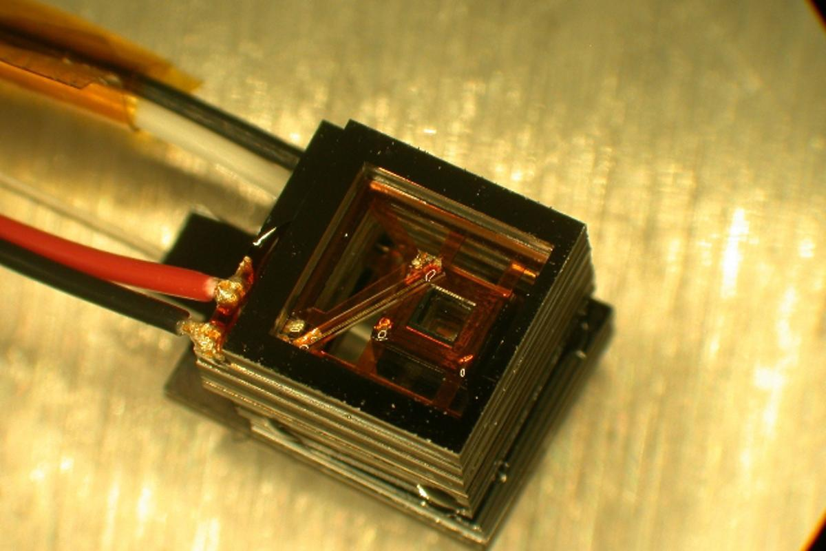 One of the NIST mini-sensors, capable of magnetically detecting a human heartbeat
