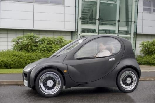 The hydrogen-powered Riversimple prototype makes its debut
