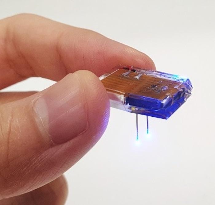 A newly developed brain implant can target neuron behavior and be recharged wirelessly