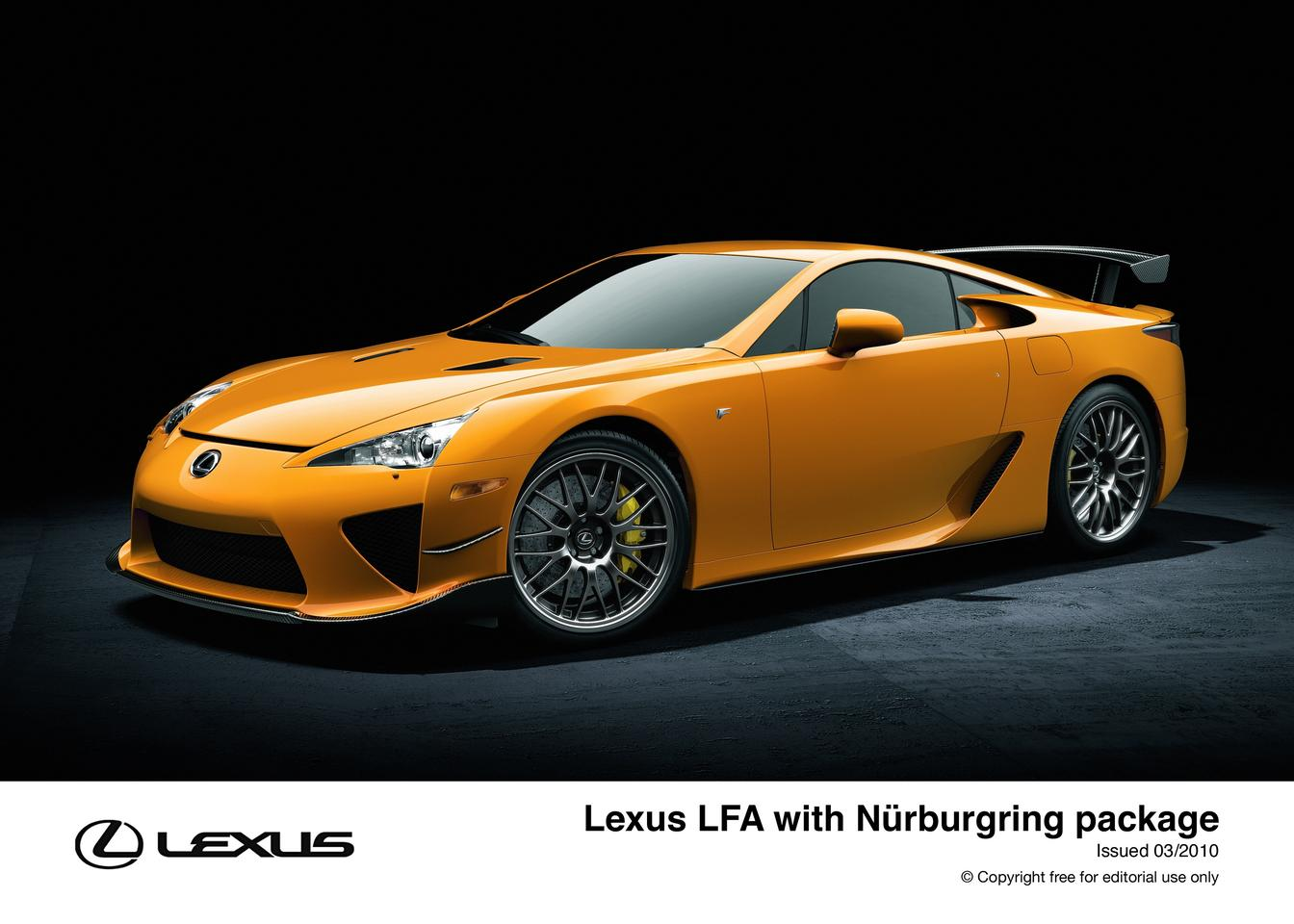 The Lexus LFA with a Nurburgring kit which adds a lot more than just good looks
