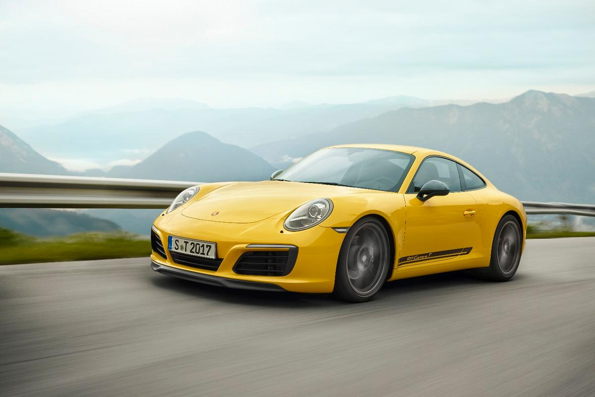 Porsche says that the 2018 911 Carrera T is available for pre-order now and will be in US dealerships by March 2018