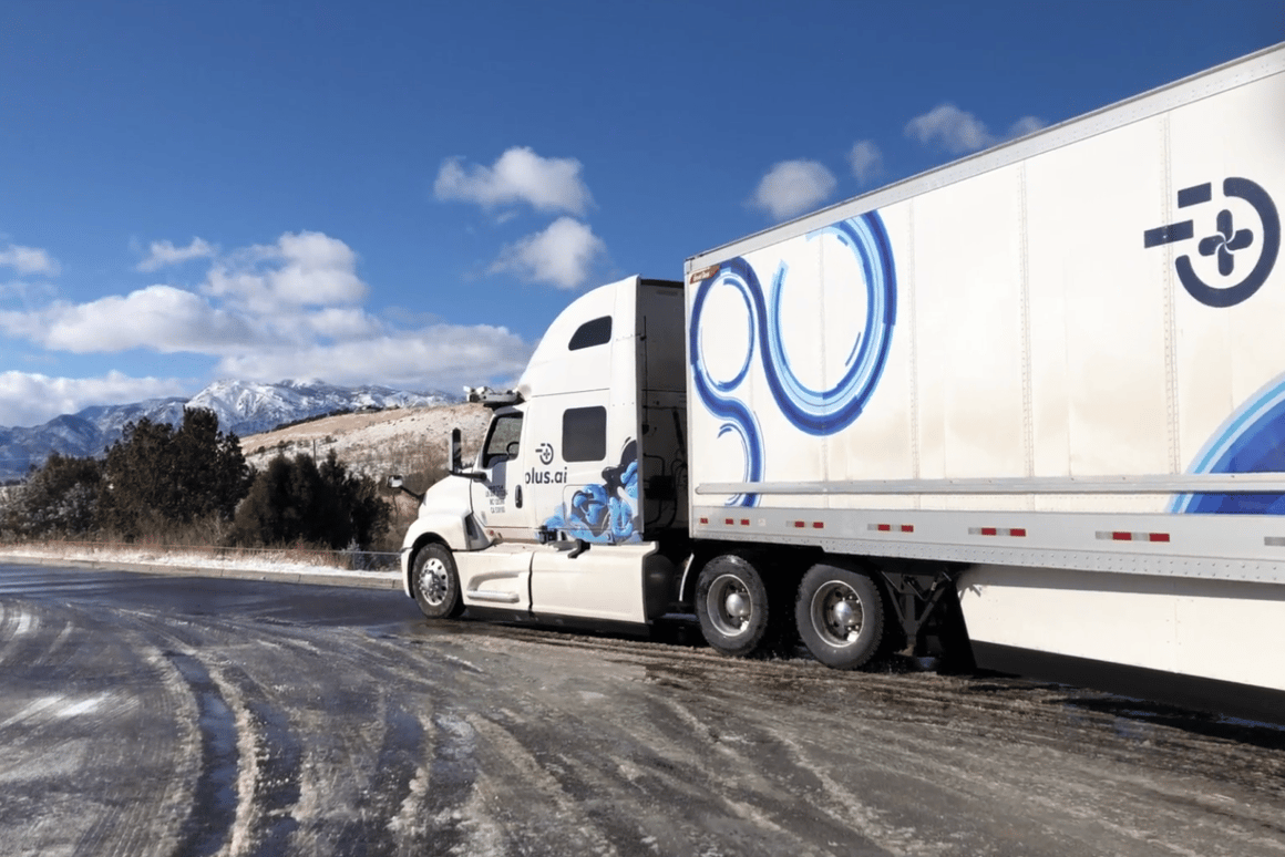 The self-driving cargo vehicle encountered a variety of weather conditions