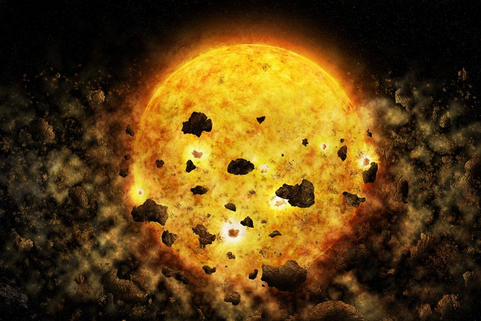 A strangely-dimming star might be being blocked by the debris from a planetary smash-up, according to a new study
