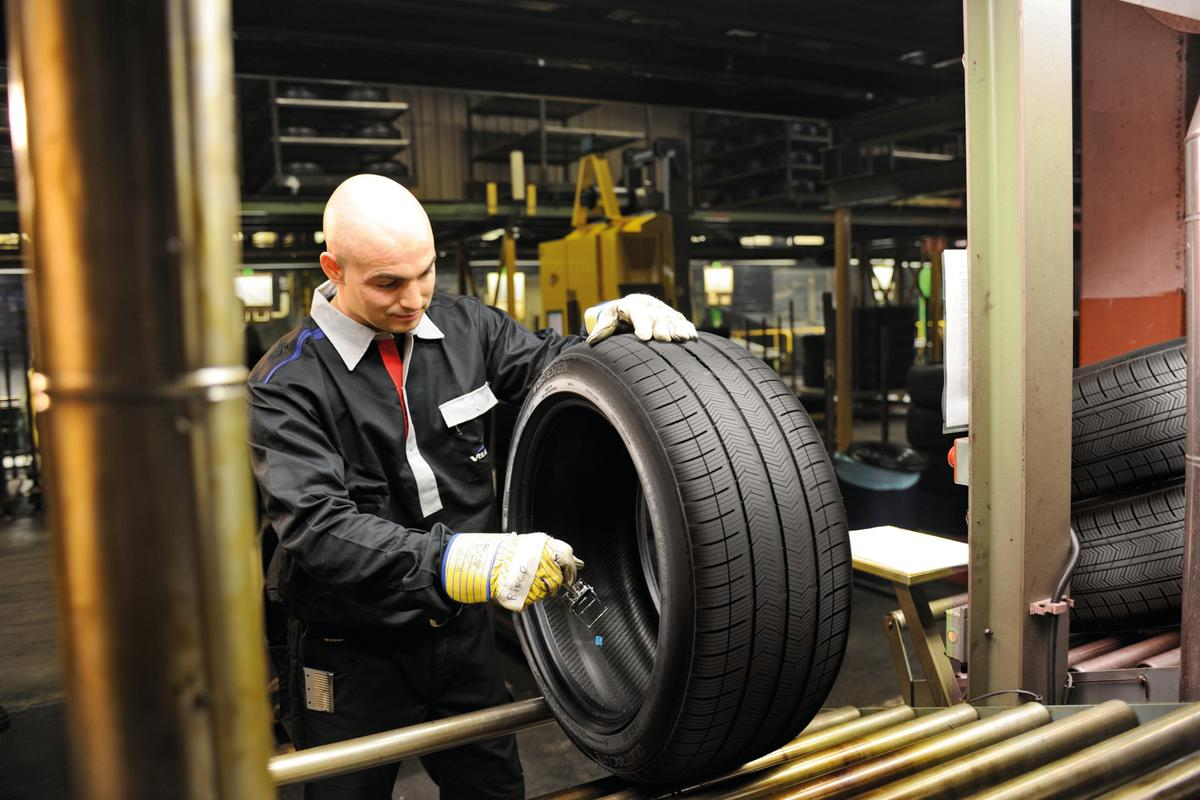 A prototype tire, made by Apollo Vredestein with rubber derived from Russian dandelion and guayule