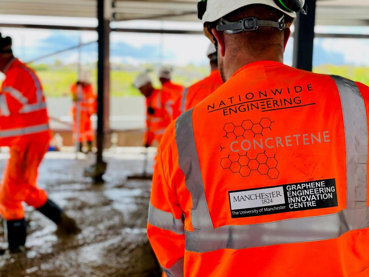 A slab has been poured for a new gym building in England using graphene-enhanced concrete in a world first