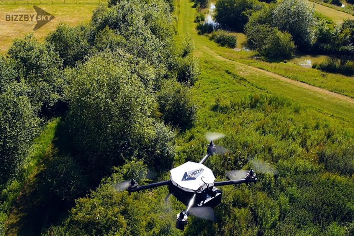 Bizzby has started conducting trials of its Bizzby Sky drone delivery service