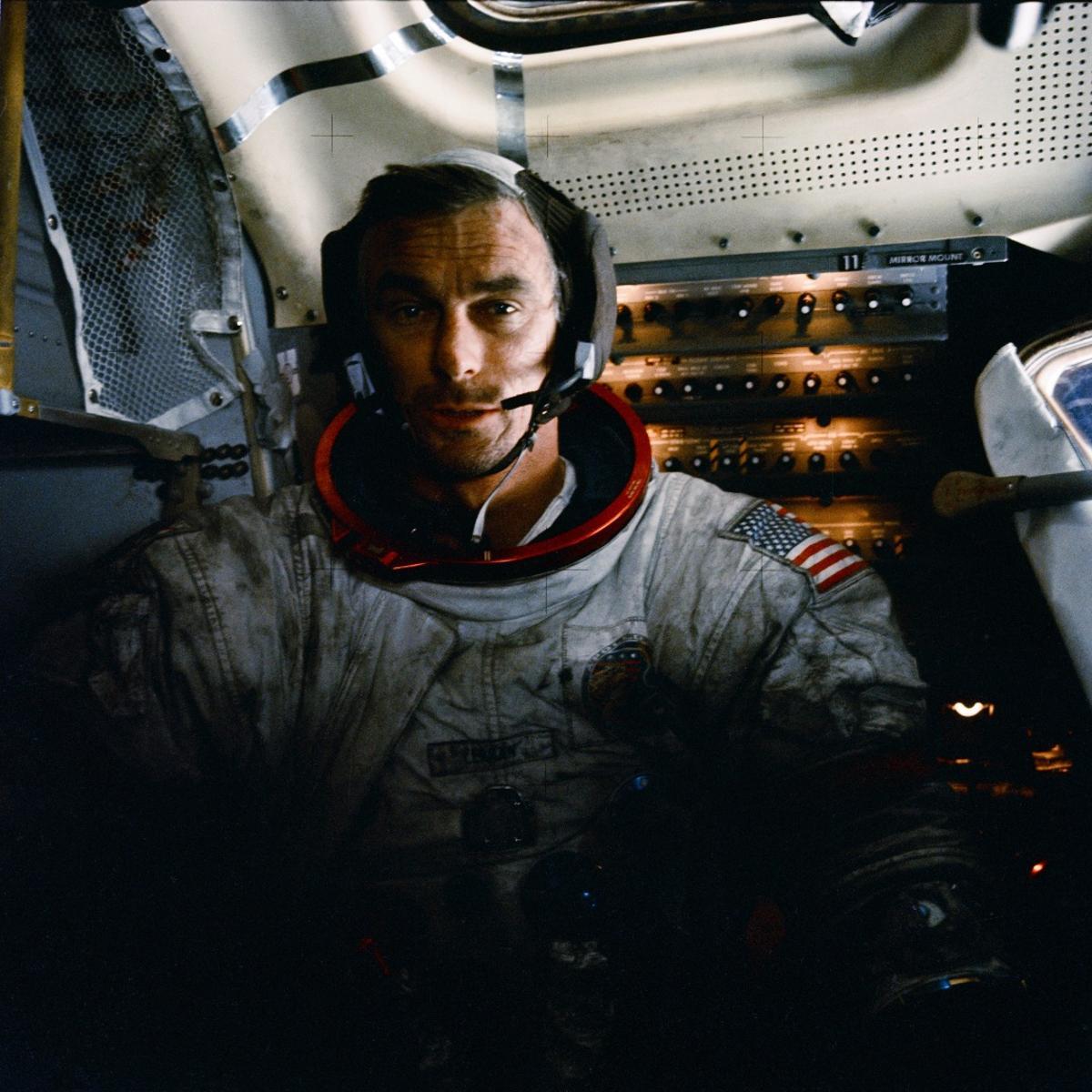 Captain Cernan was the Commander of Apollo 17