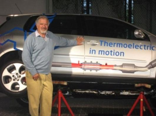 Prof. Rowe with the TEG equipped Volkswagen