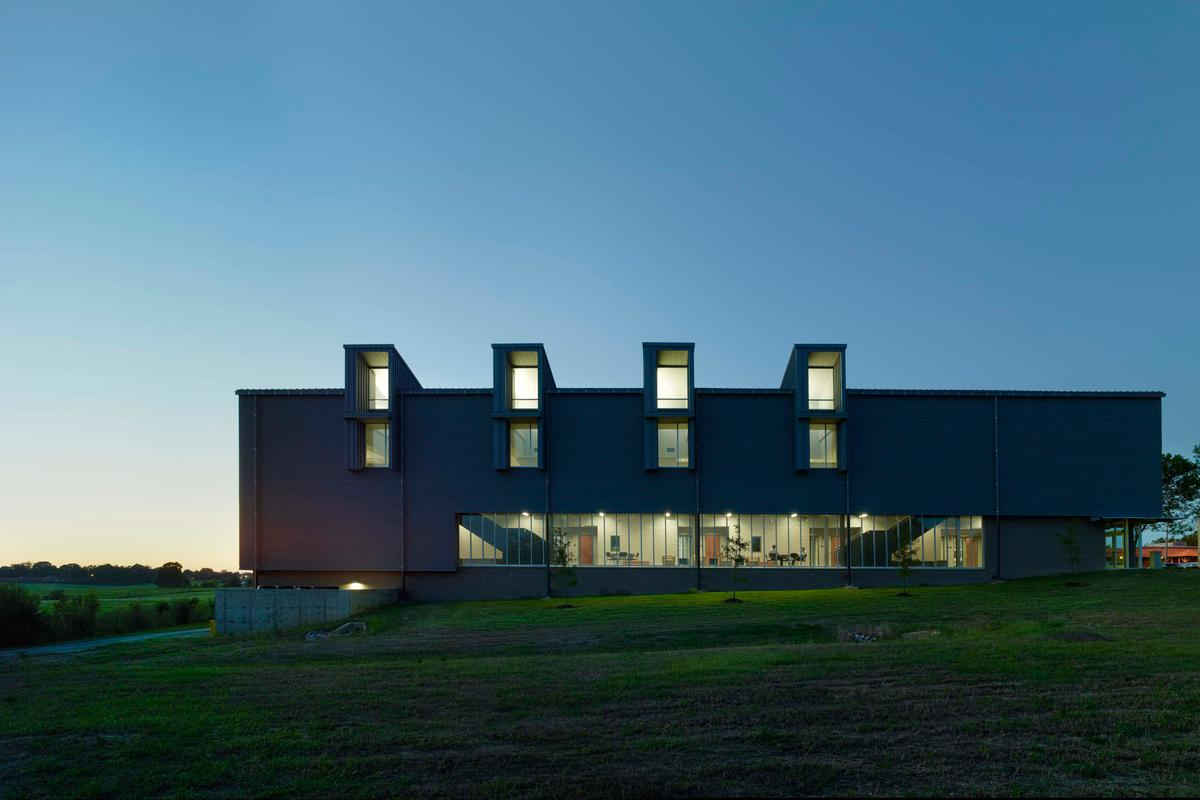 The Jobie L. Martin Classroom Building was amongst the five chosen by AIA (Photo: Timothy Hursley)