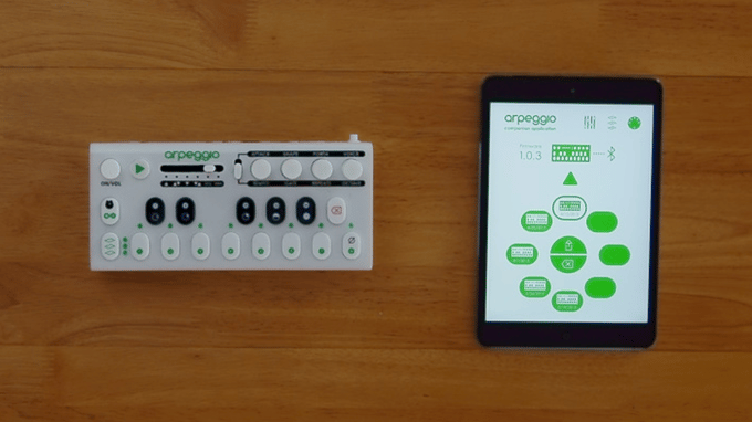 The final Arpeggio prototype and in-development app