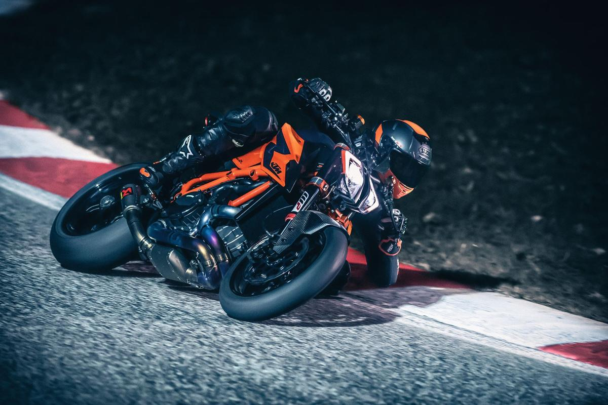 KTM has unveiled three new bikes at EICMA: the 890 Duke R, a new 390 Adventure, and a totally overhauled 1290 Super Duke R (pictured)