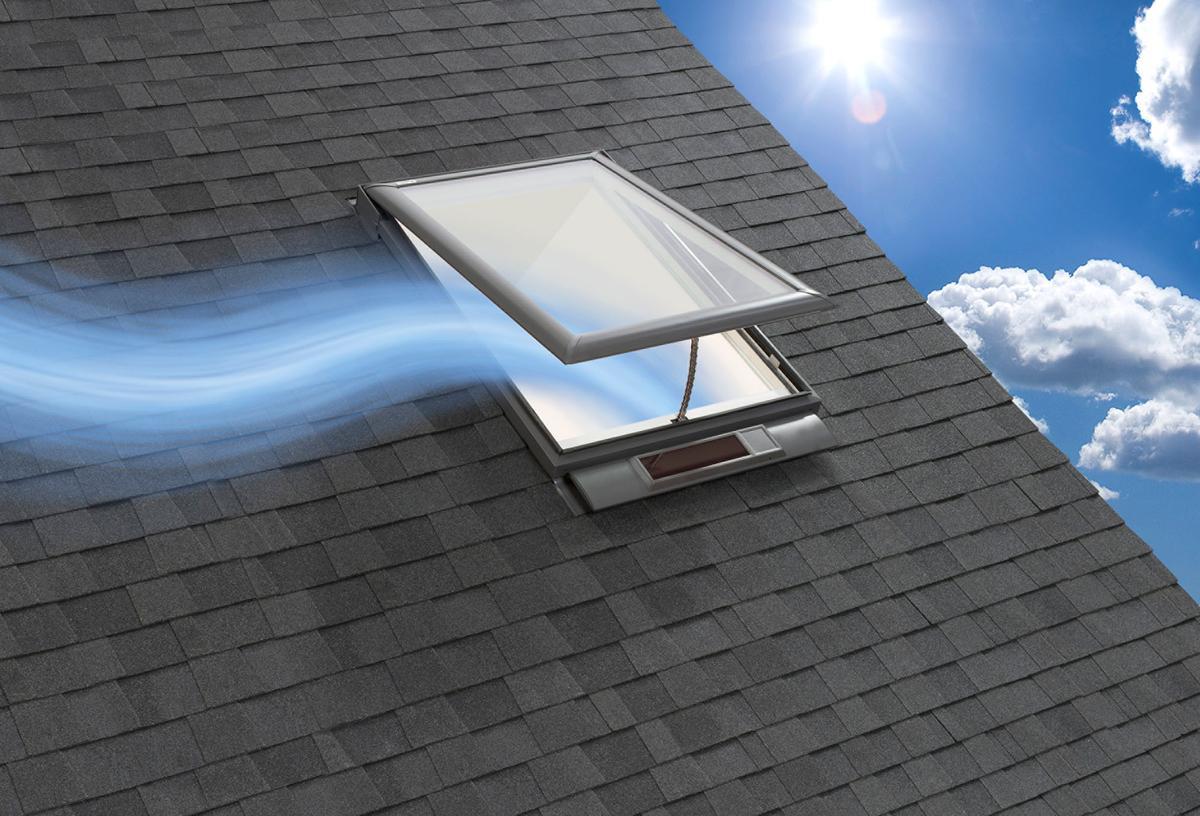 The Velux Solar Powered Fresh Air Skylight