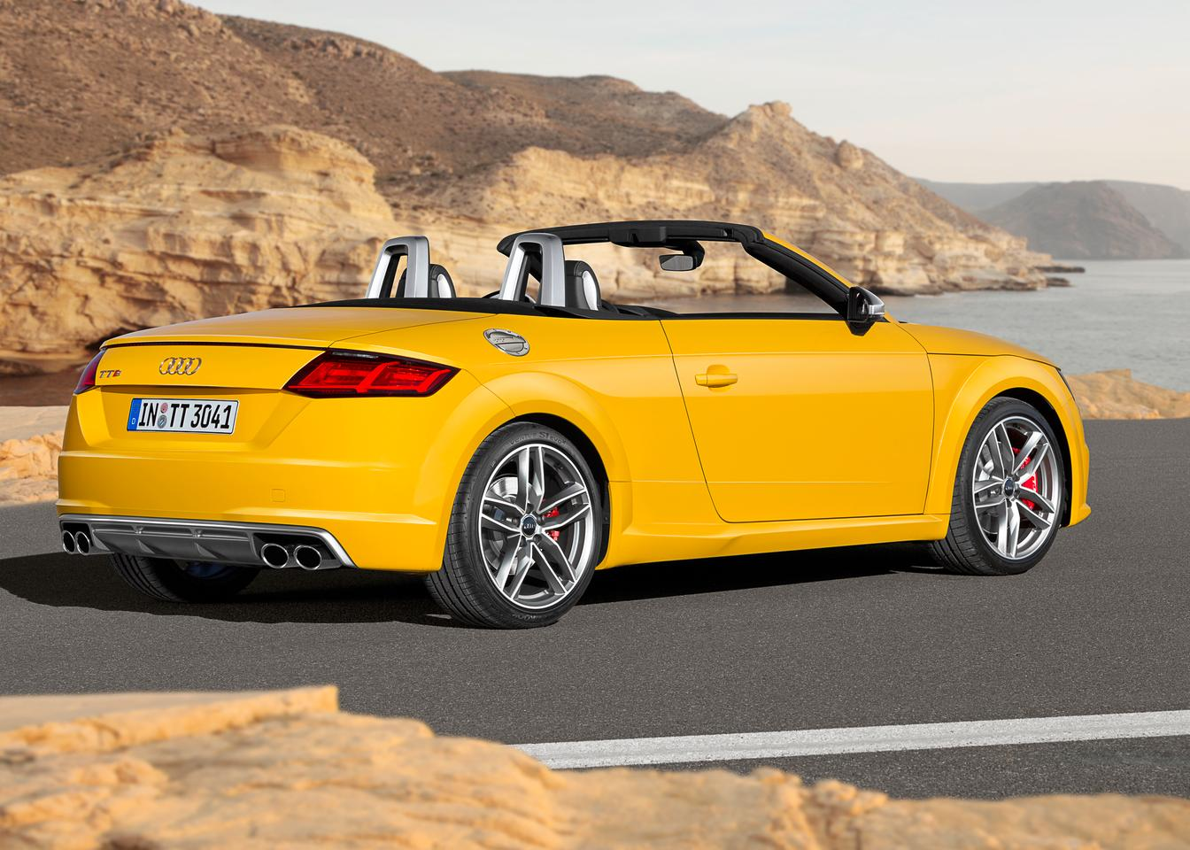 The Audi TT Roadster is based off the same MQB platform as its coupe brother
