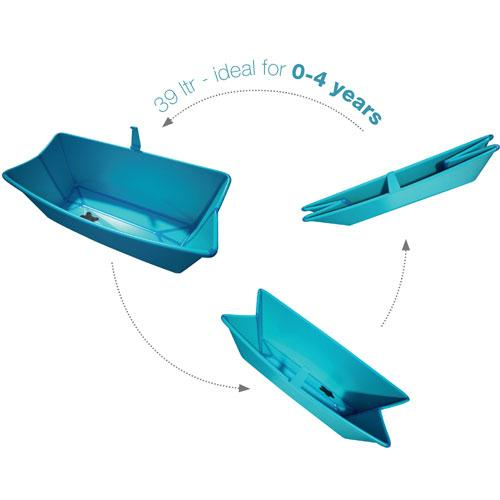 Flexi-bath folds up into a neat, flat package
