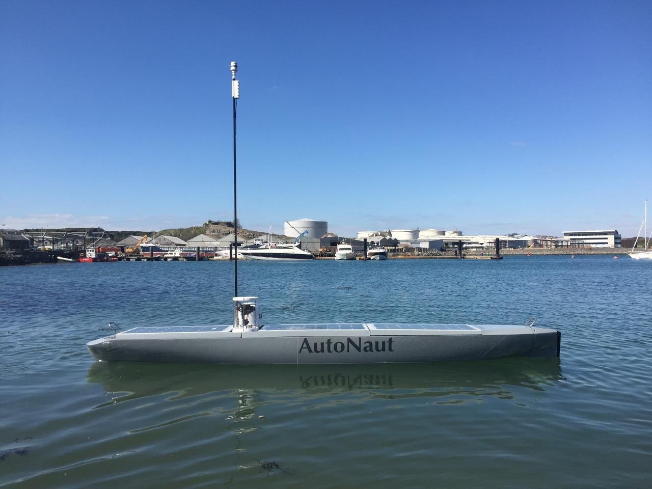 The AutoNaut unmanned surface vessel has so far been sent on missions for NATO, the Royal Navy and the UK's Met Office
