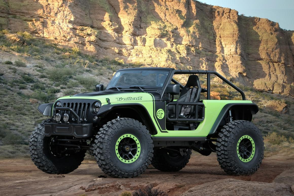 The Trailcat is one of seven Jeep concepts launched for the 50th Annual Easter Safari