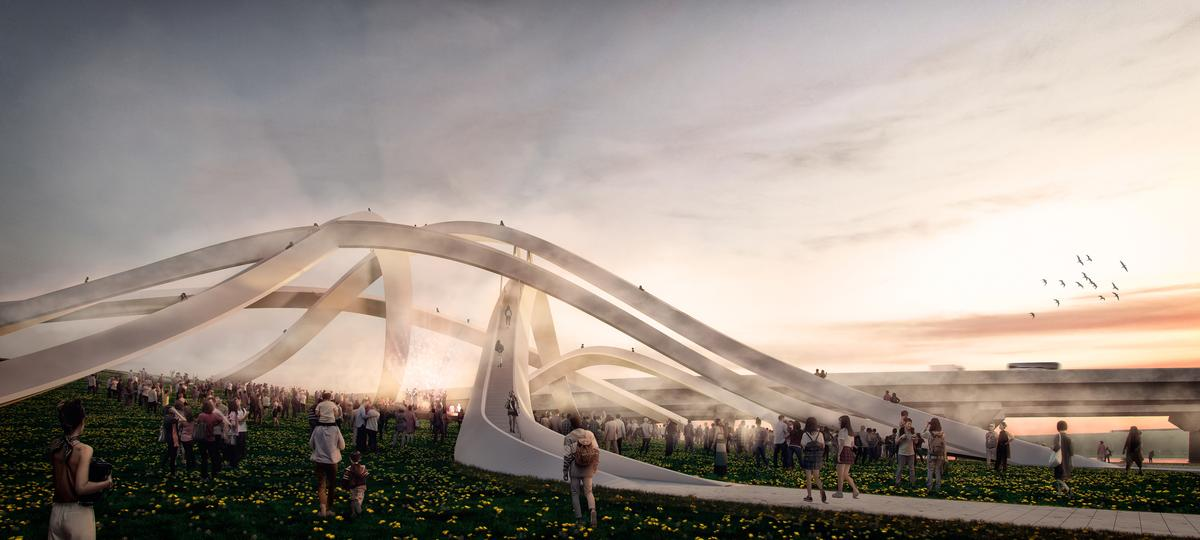 The Weaves will feature a viewing point made up of intersecting pedestrian paths