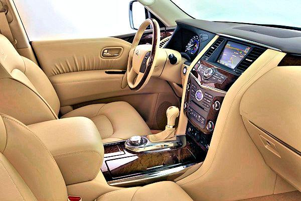 The leather upholstery of the new Infinity QX56 (Photo: Nissan)