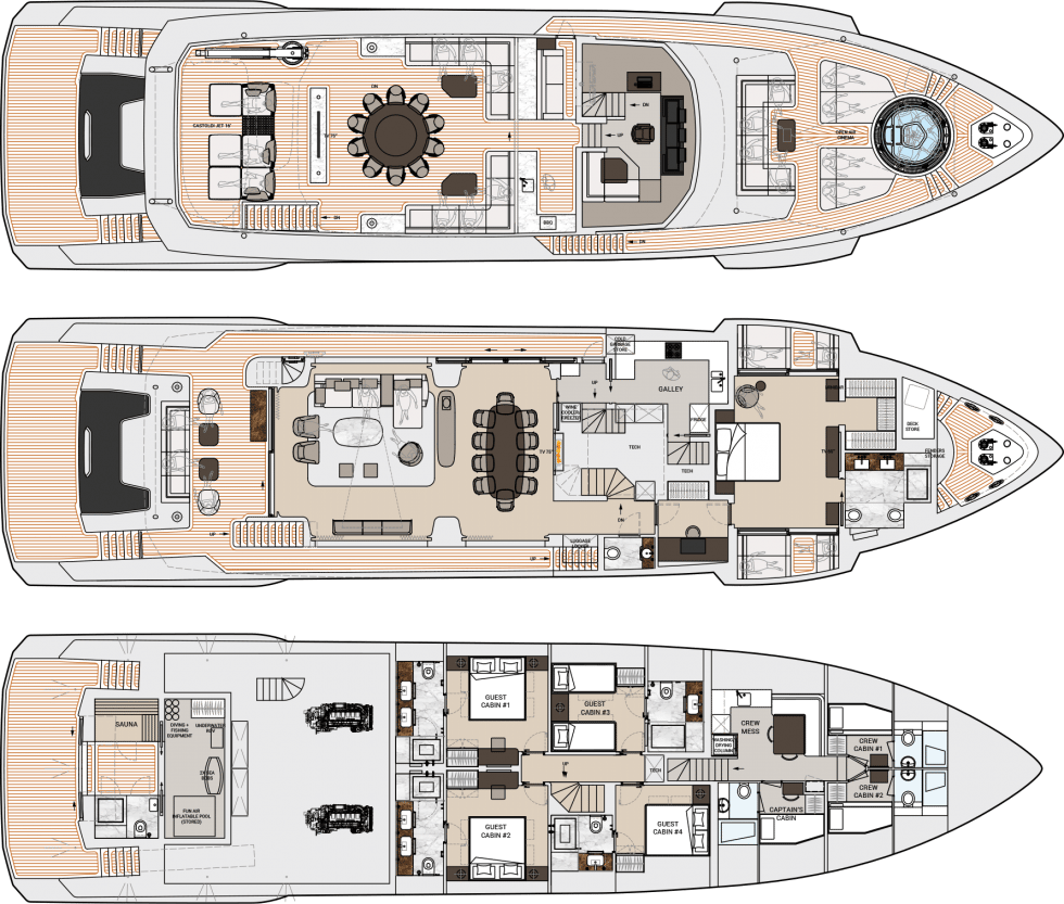 Dynamiq Global 330 deck plans
