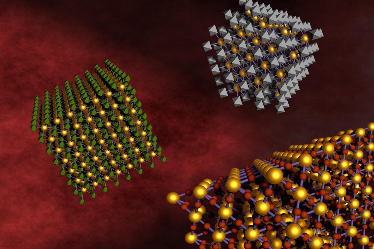 A new generalized method for dna-assisted assembly can mix and match two different types of nanoparticles to create new multifunctional materials (Image: BNL)
