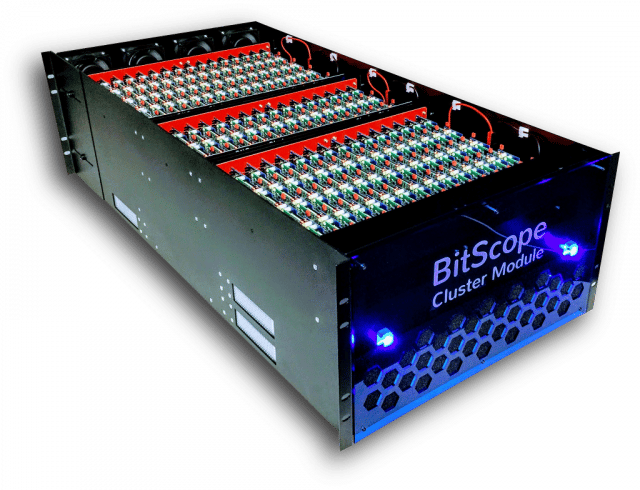 Each BitScope module offers up to 3,000 available cores as a parallel testbed for developers and researchers to design and test system software before launching it on larger systems like Trinity