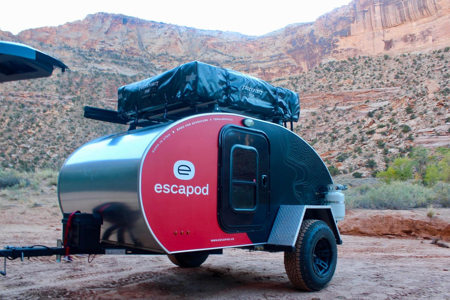 We arrive at camp with the Escapod Topo ...