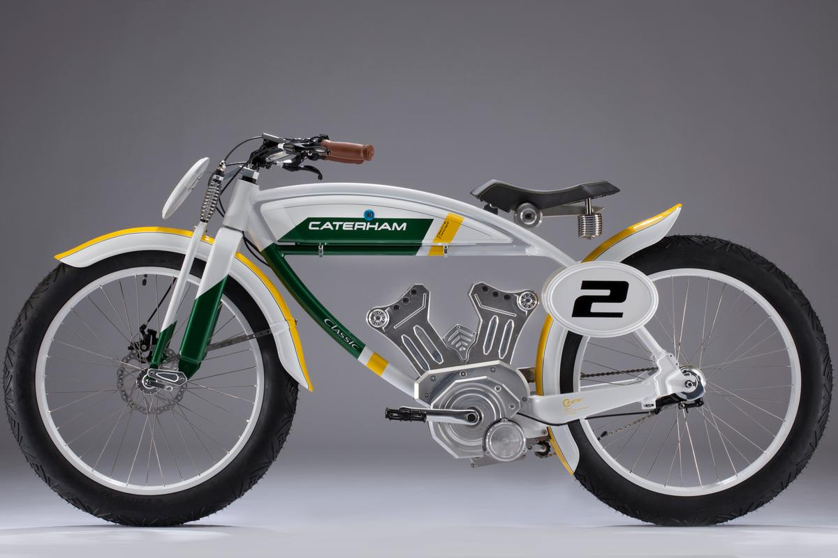 Caterham's Classic e-bike draws design inspiration from the track-board racers of the 1920s